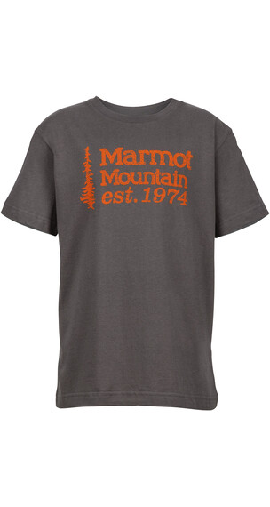 Marmot Boys 74 Tee SS Charcoal
